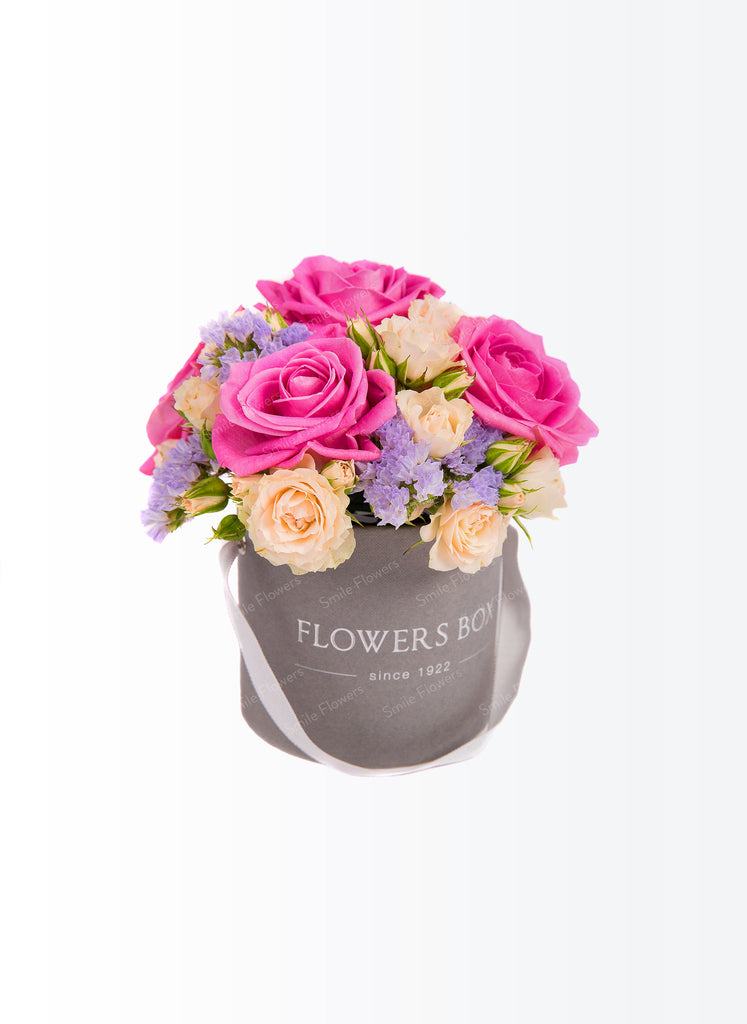 Romantic flowers box