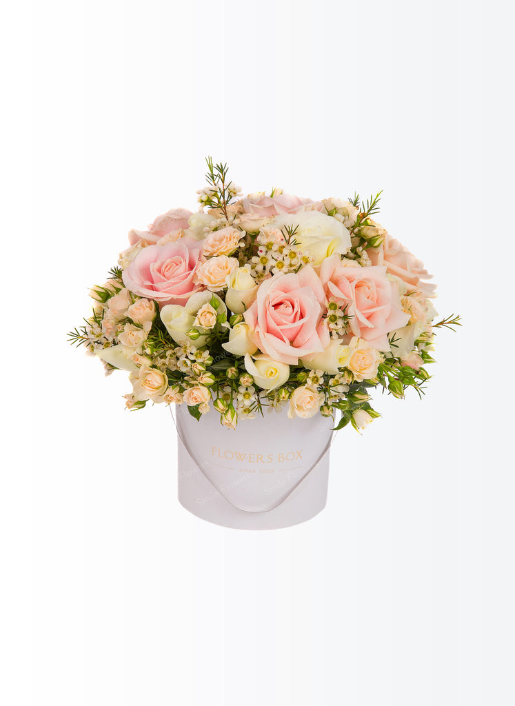 A pastel coloured flowers box.