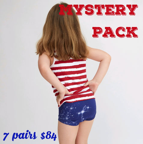 Mystery Pack of Girls Bamboo & Organic Cotton Underwear - 7 Pack