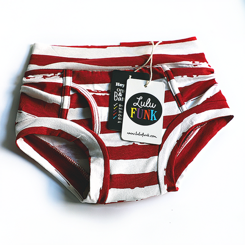 Boys Bamboo & Organic Cotton Underwear - Distressed Stripe
