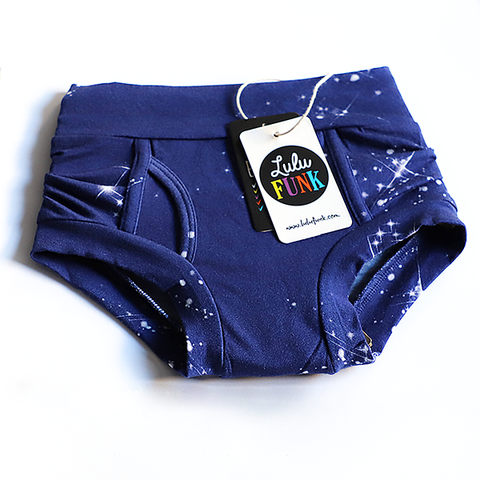 Boys Bamboo & Organic Cotton Underwear - Night Sky