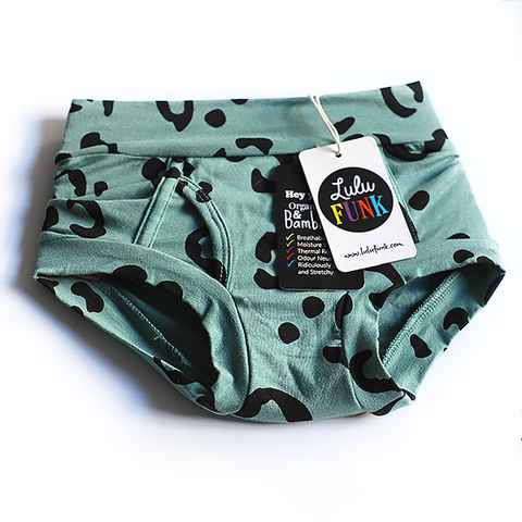 SIZE 2 ONLY Girls Bamboo & Organic Cotton Underwear - Moss