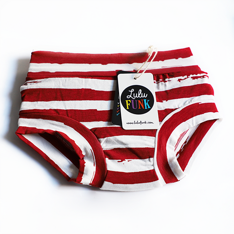 Girls Bamboo & Organic Cotton Underwear - Distressed Stripe