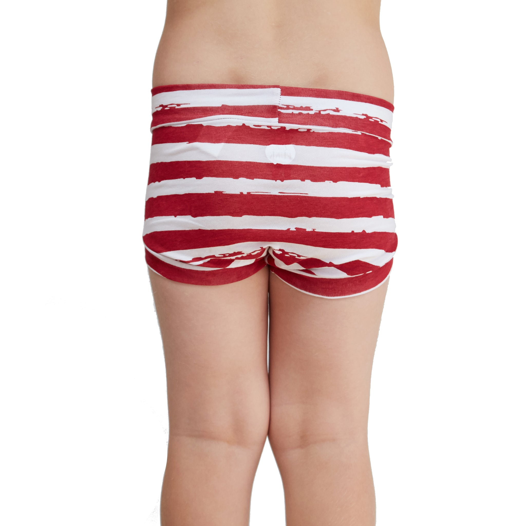 Bamboo & Organic Cotton Kids Underwear Y-front - Distressed Stripe