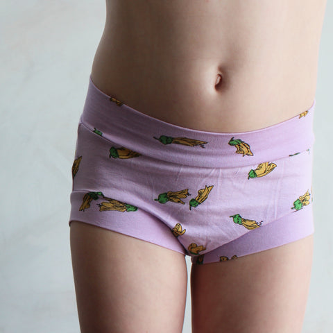 Girls Bamboo & Organic Cotton Underwear - Kowhai