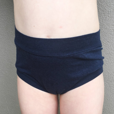 Girls Bamboo & Organic Cotton Underwear - Navy