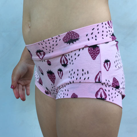 Girls Bamboo & Organic Cotton Underwear - Berry Good
