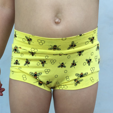 Girls Bamboo & Organic Cotton Underwear - Save the Bees