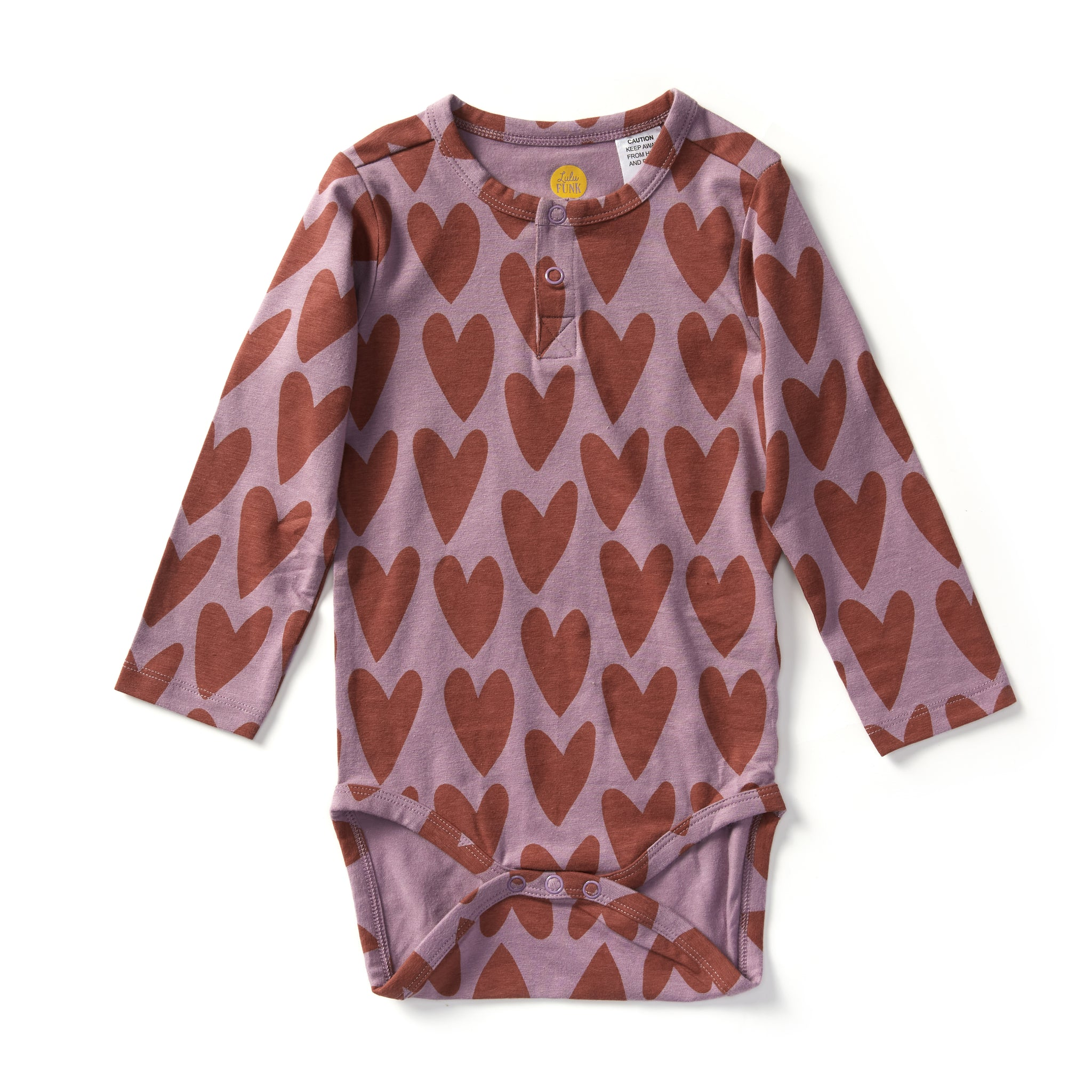 Bamboo & Organic Cotton Baby Bodysuit - Hippy Hearts