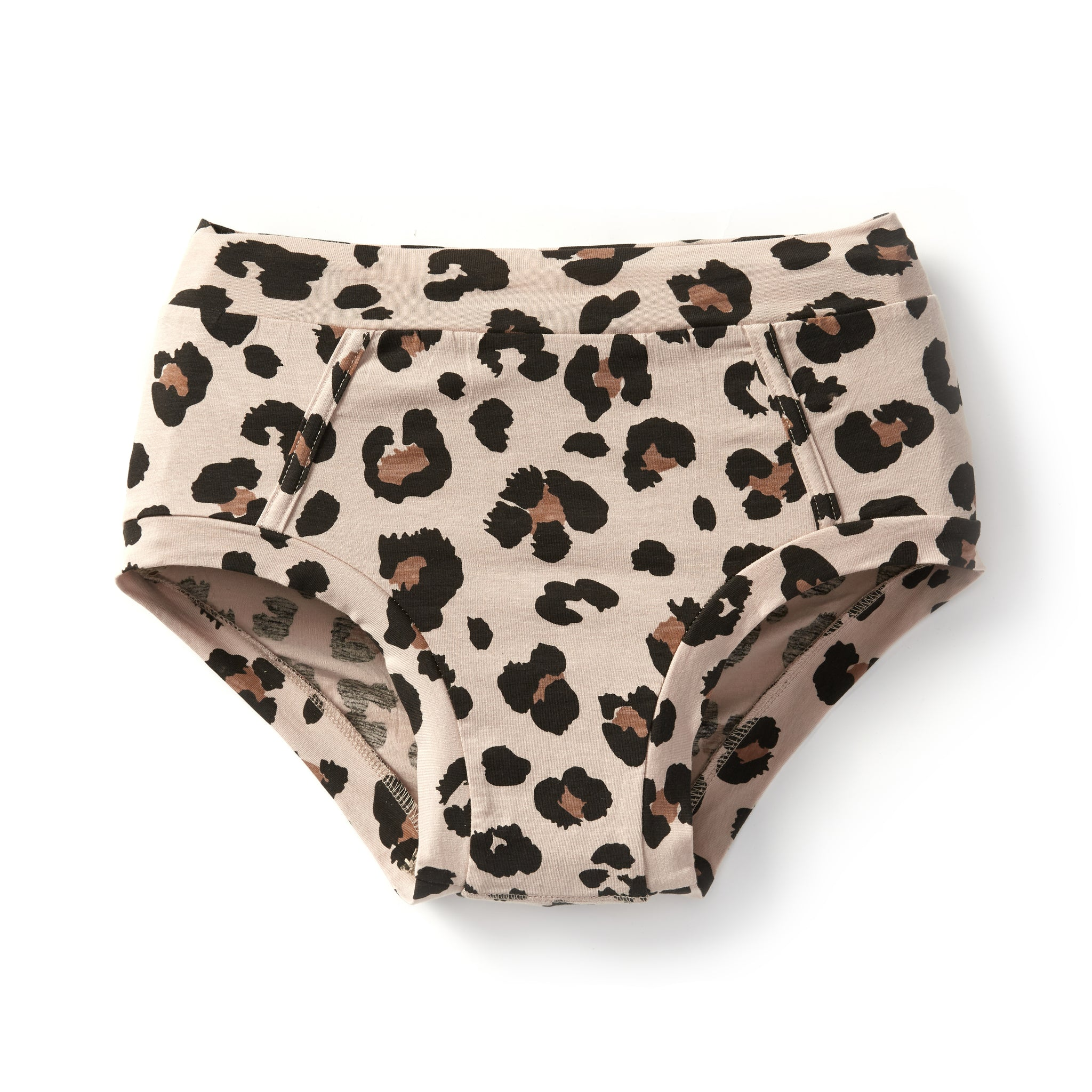 Bamboo & Organic Cotton Womens Underwear Brief - Leopard Classic