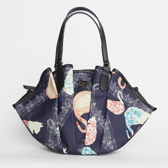 Cat Lace Printed Fan Bag