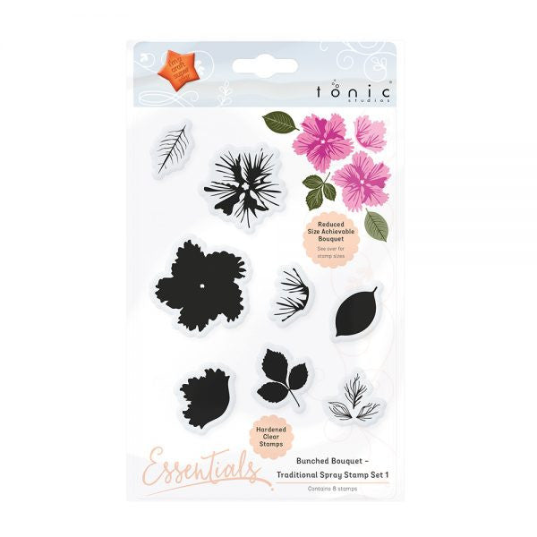 BUNCHED BOUQUET - TRADITIONAL SPRAY STAMP SET 1