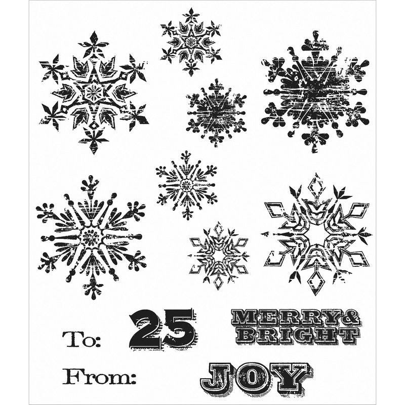 Mini weathered winter stamps