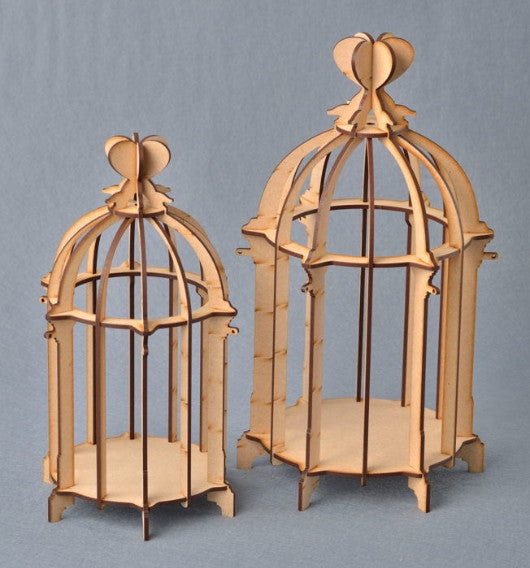 3 Dimensional Birdcage with Heart Shaped Top