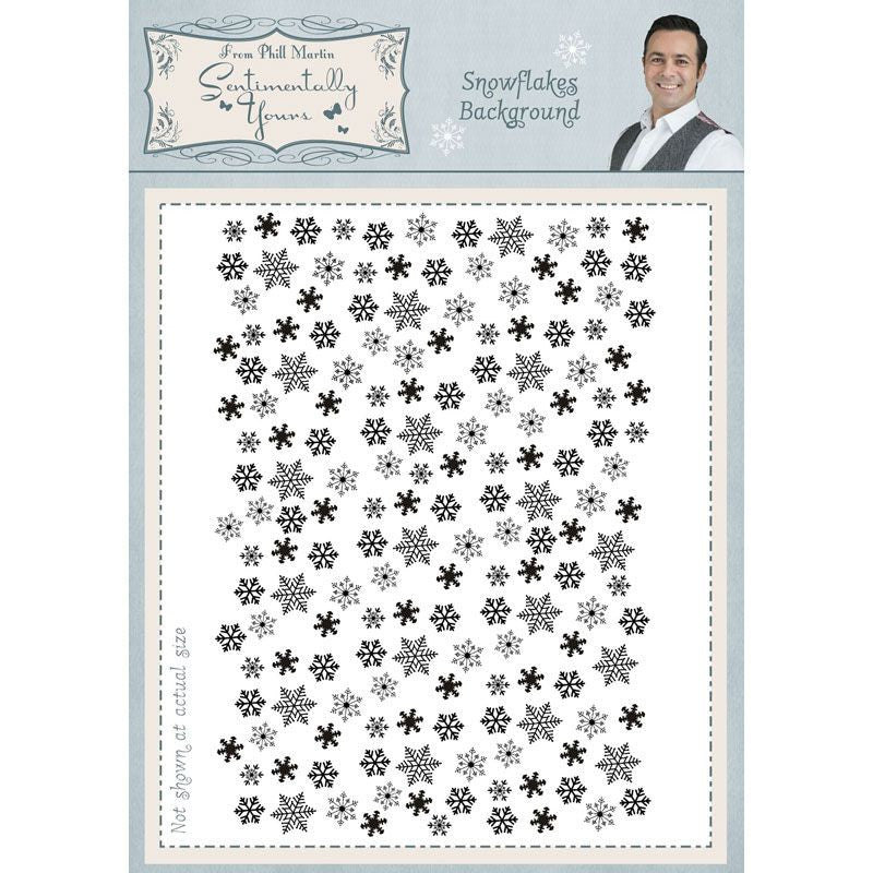 Snowflake  Background   - Stamps