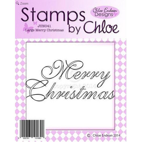 Stamps By Chloe - Large Merry Christmas