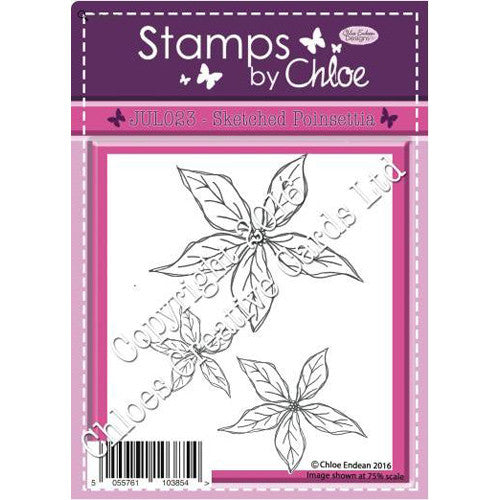 Stamps By Chloe - sketched Poinsettia