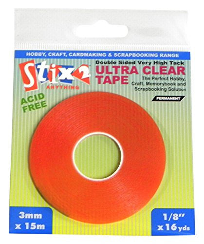 Stix2 3 mm X 15m Ultra Clear Tape