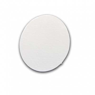 Die Cut Card Shapes-Oval-Plain White