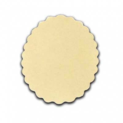 Die Cut Card Shapes-Scallop Oval-Cream