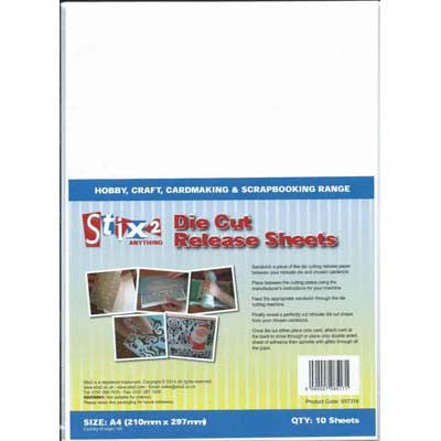 Stix2 Die Cut Release Sheets. A4. Pk Of 10