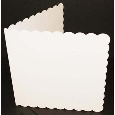 "6"" x 6"" Scalloped White Cards & Envelopes x 50"