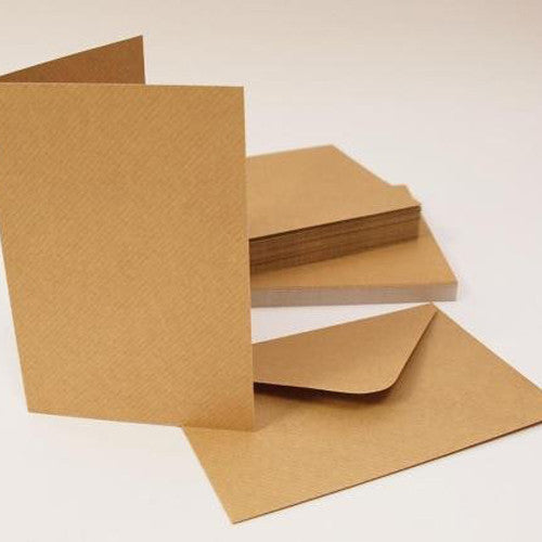 A5/C6 Kraft Cards And Envelopes x 30