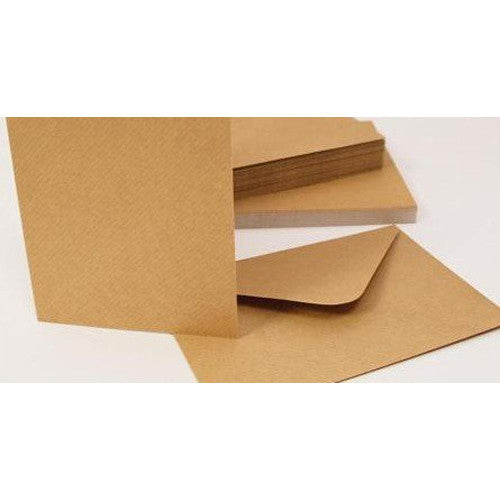 "6"" x 6"" Kraft Cards And Envelopes x 30"