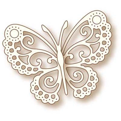 Wild Rose Studio Clear Stamp - Butterfly