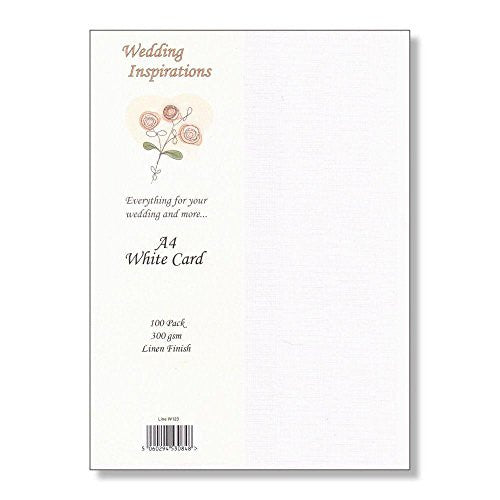 Wedding Inspirations - A4 White Linen 100 Pack
