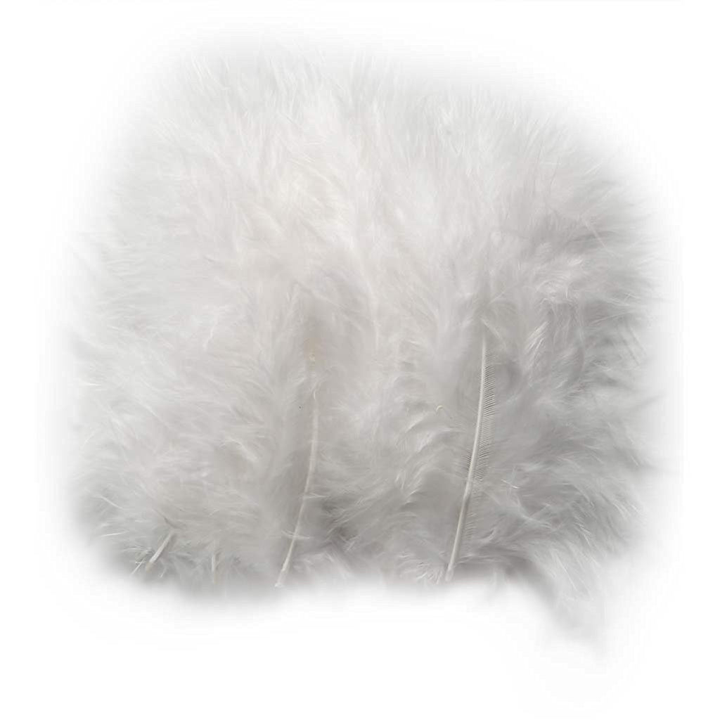 White Feathers Approx 15 Per Pack