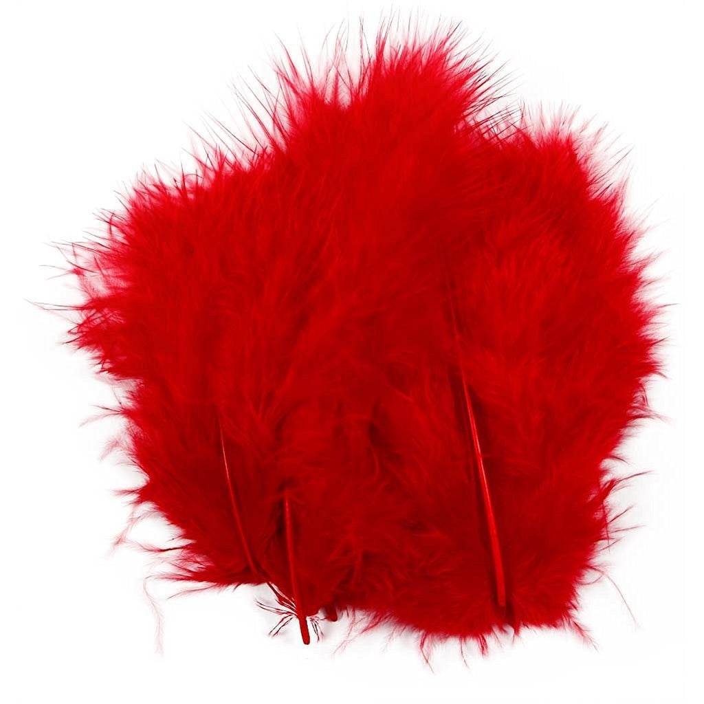 Red Feathers Pack Approx 15pcs