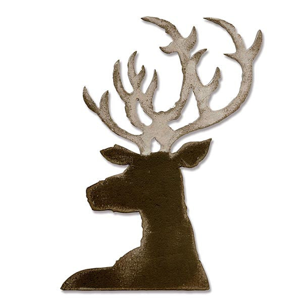 Sizzix 661606 Bigz Die, Dashing Deer By Tim Holtz