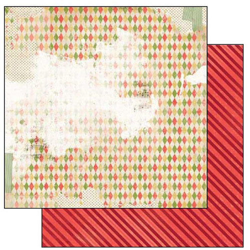 "Christmas Collage Double-sided Cardstock 12""x12""-Festive"