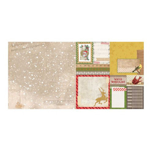 "Christmas Collage Double-sided Cardstock 12""x12""-Flurry"