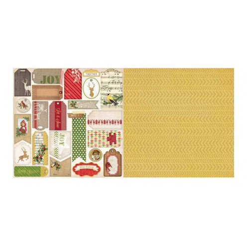 "Christmas Collage Double-sided Cardstock 12""x12""-Glad Tidings"