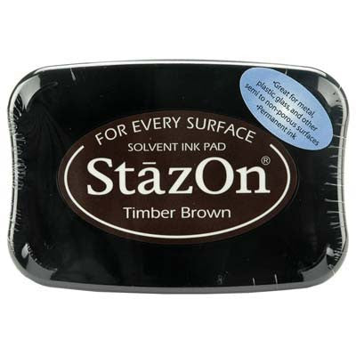 Tsukineko Stazon Stamp Pad Timber Brown