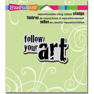 Stampendous Cling Rubber Stamp-follow Art