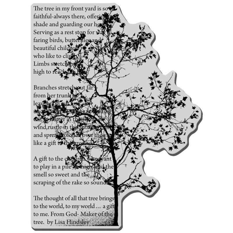 Stampendous Cling Rubber Stamp 4-inch X 6-inch Sheet-tree Poem