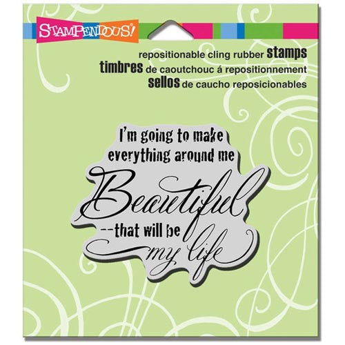 Stampendous Cling Rubber Stamp, Beautiful Life Image