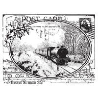 Train Postcard - Stamp