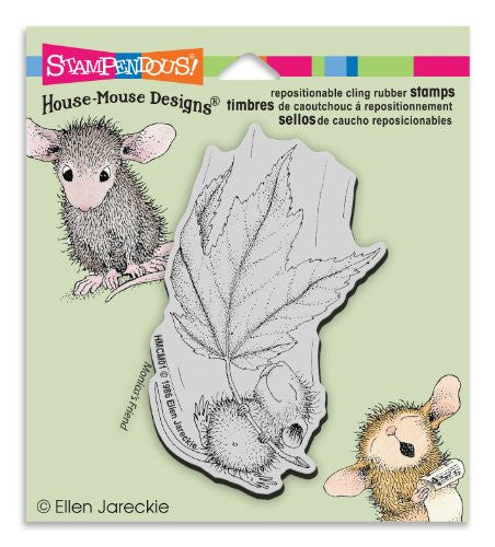Stampendous Rubber House Mouse Cling Stamp 3.5-inch X 4-inch, Fall Float
