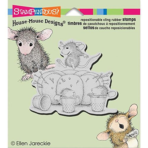 tampendous Rubber House Mouse Cling Stamp 3.5-inch X 4-inch, Pin Cushion