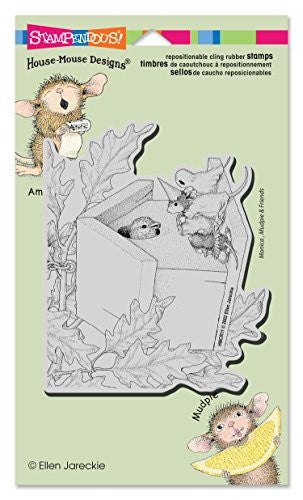 "Stampendous House Mouse Cling Rubber Stamp 4.5""x7.75"" Sheet-Trick Or Tweet"