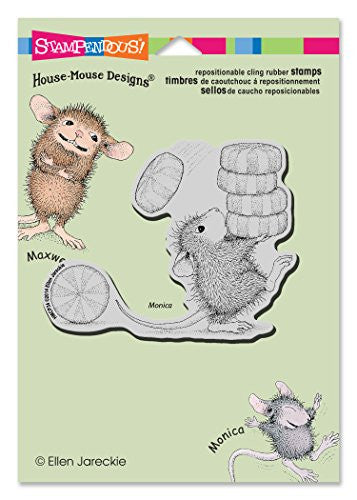 Stampendous Rubber House Mouse Cling Stamp 6.5-inch X 4.5-inch, Carrying Mints