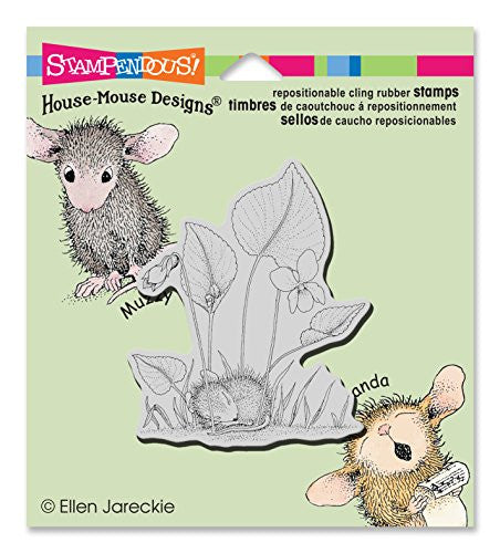Stampendous Stampendous House Mouse Cling Stamp 3.5-inch X 4-inch Violet Nap, Acrylic