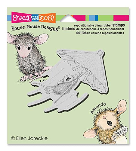 Stampendous Stampendous House Mouse Cling Stamp 3.5-inch X 4-inch Umbrella Ride, Acrylic