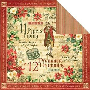 Graphic 45 Drummers Drumming Double-sided Sheet,