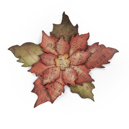 Sizzix Bigz Die Tattered Poinsettia By Tim Holtz
