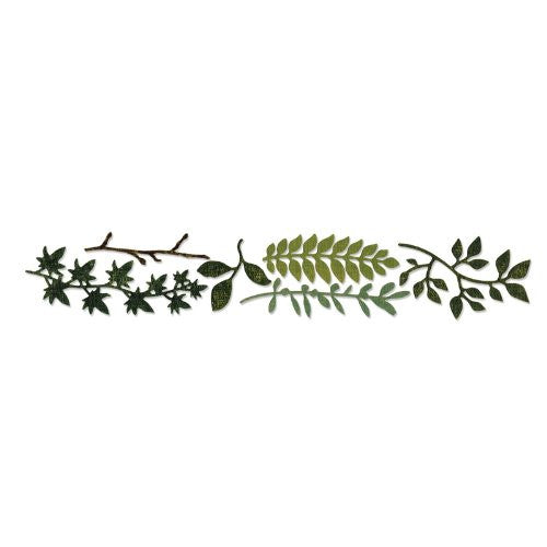 "Sizzix ""spring Greenery"" Sizzlits Decorative Strip Die By Tim Holtz"